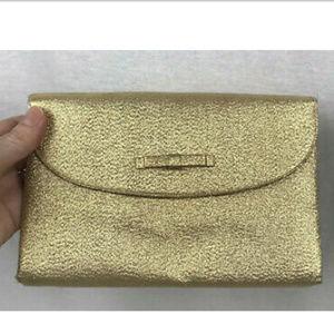 Vtg 60s Saks Fifth Avenue Evening Bag Gold Lame